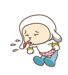 Afraid of the new virus in China? image of cartoon character sneezing without covering his mouth