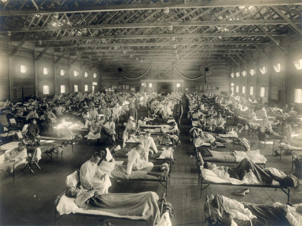 Image of emergency hospital during Spanish Flu epidemic, a history lesson for Pandemic Life