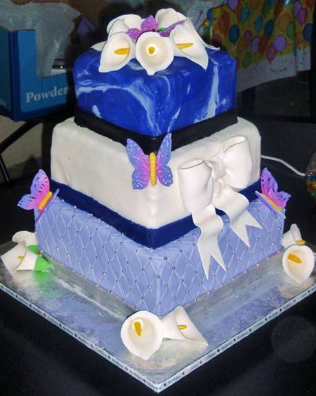 Photo of a designer cake with flowers, butterflies, and bows. Define what flavor of success you want for each job.