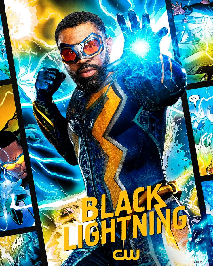 Illustration of the main character in Black Lighting, the series that made me wonder what if you were a superhero? What would you do?