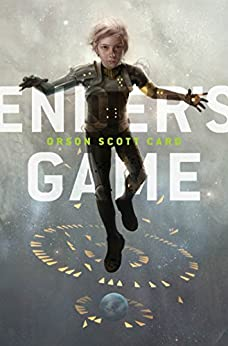 Cover of Ender's Game shows a boy floating in Battle School with lights around and below him an example of how the midpoint powers your novel