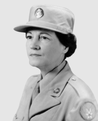 Official Air Force portrait photo of Esther McGowin Blake in uniform
