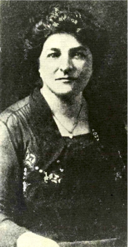 black and white portrait photo of Opha Mae Johnson in a dress