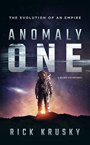 image of book cover for anomaly one with an astronaut standing on a dark planet-one of the samples of great first lines