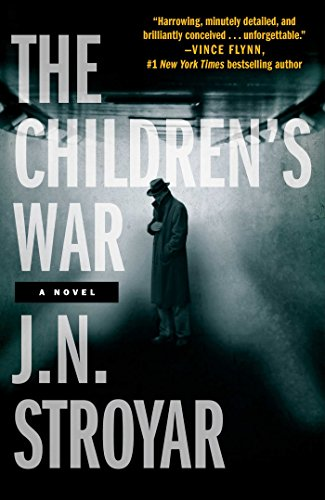 The cover of The Children's War shows a foggy passage way with a shadowy man in a trench coat and hat. It's an alternate history or a history you don't know.