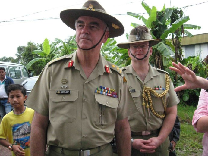 General Gillespie at Parit Sulong