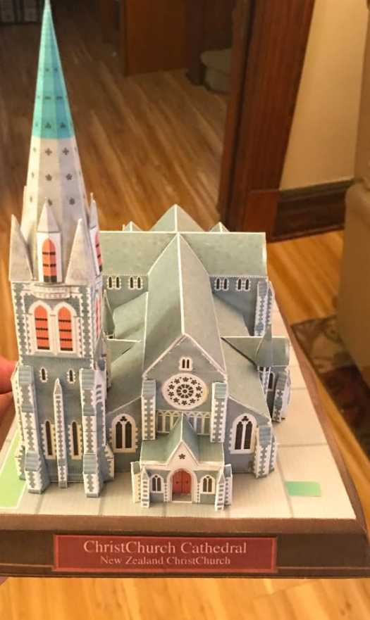 Paper Model of ChristChurch Cathedral