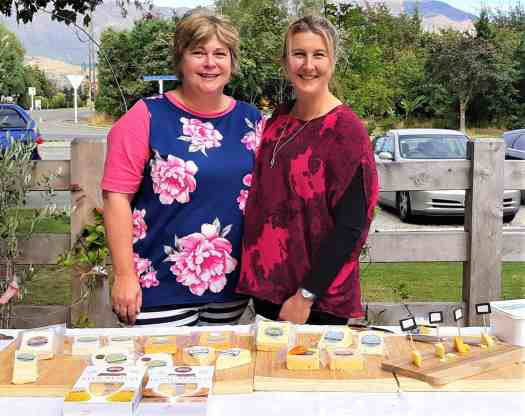 Meegan, Amanda and cheese at the Athol Valley Market.