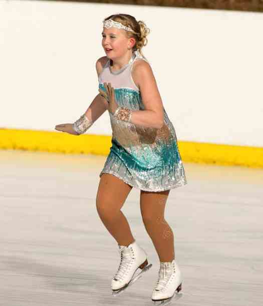 Chonelle Evans skating at the Alexandra ice rink.