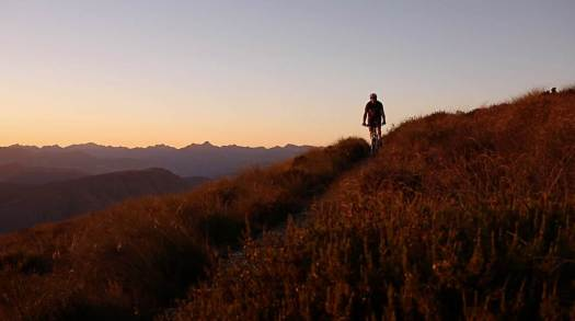 The 'My Southland Story' photo of Tom O'Brien mountain biking on Welcome Rock Trails.