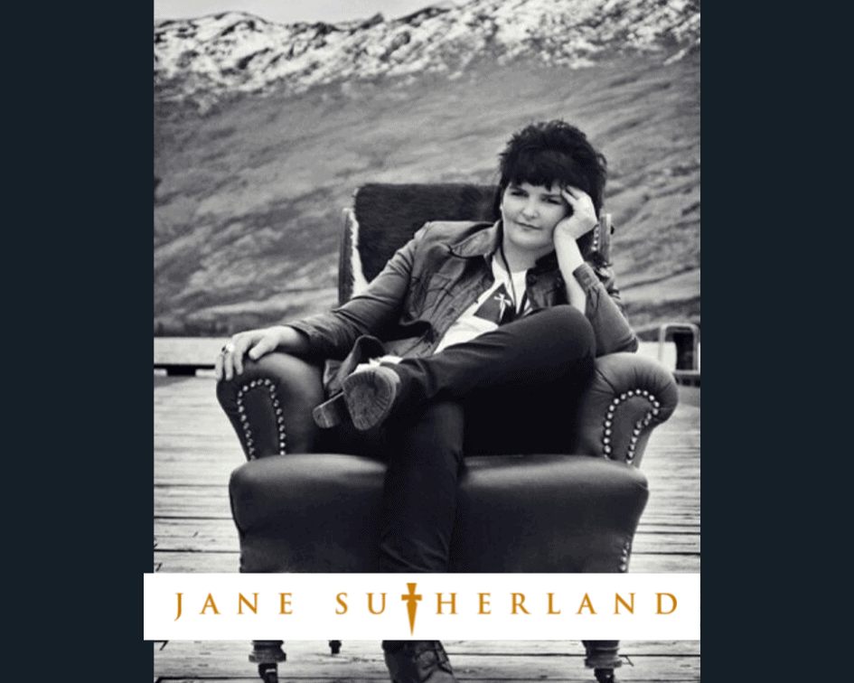 Fashion designer Jane Sutherland's iconic photo in an armchair by the lake in Kingston.