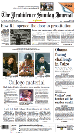 This article appeared on Page A1 of The Providence Journal, May 31, 2009.