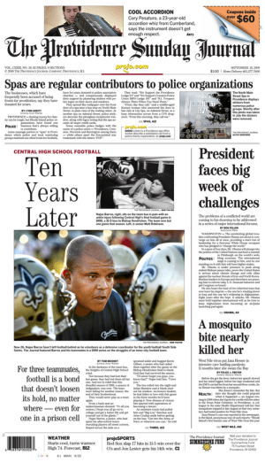 This article ran on page A1 in The Providence Journal, September 20, 2009.
