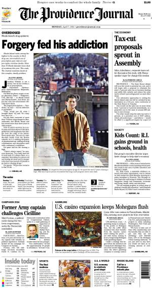 This story appeared on Page A1 of The Providence Journal, April 7, 2014.