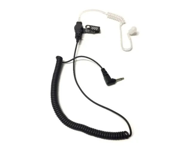 Single Wire Listen Only Earpiece with Acoustic Tube For