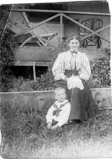 My great grandmother - Jean Gordon Douglass with my grandfather Sydney Gordon Grafton