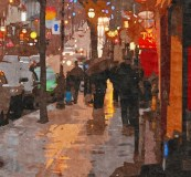 evening streets Montreal
