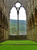 arched window Tintern Abbey Wales