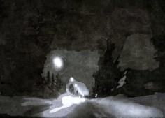 digital art abstract night drive