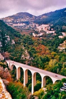 viaduct bridge at Eze near Nice