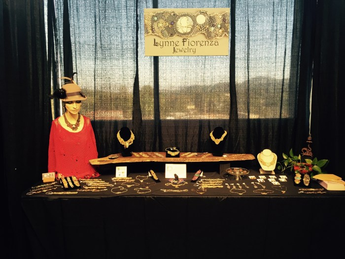 Babette looked great at our booth at the 2015 Autumn Southern Highland Craft Guild Show.