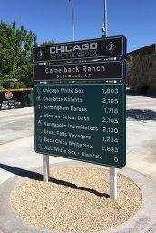 White Sox Sign, Camelback Ranch