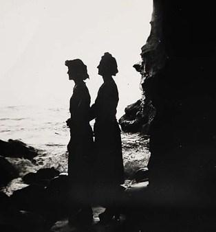 Lynne and Mom, La Jolla Caves, 1948