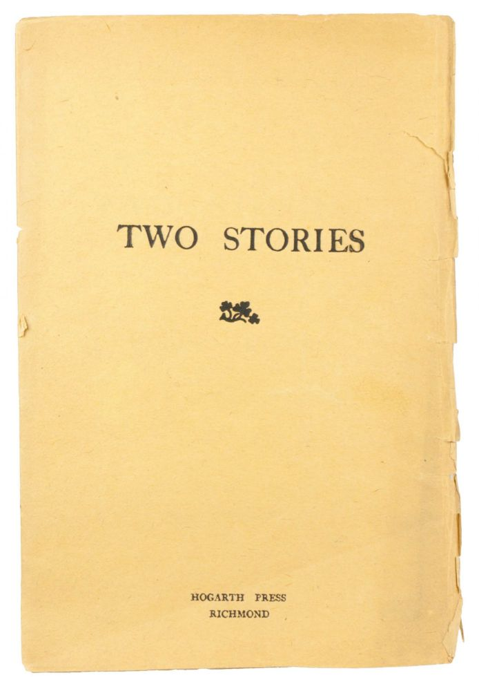 Cover of an original 1917 Hogarth Press edition of Two Stories
