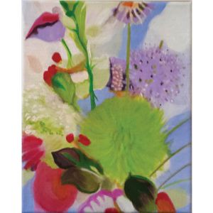 abstract flowers contemporary art by Lynn Farwell