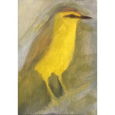 Yellow bird contemporary art by Lynn Farwell