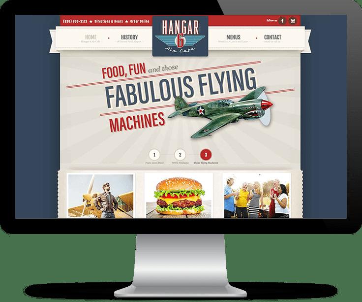 Hangar 6 Air Cafe website image
