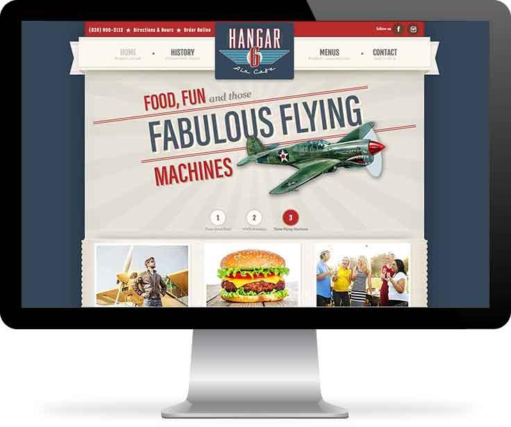 Hangar 6 Air Cafe website