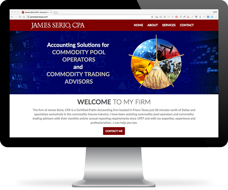 James Serio CPA website screenshot