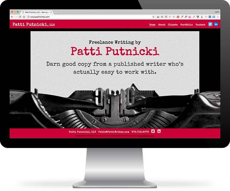 Patti Putnicki website screenshot
