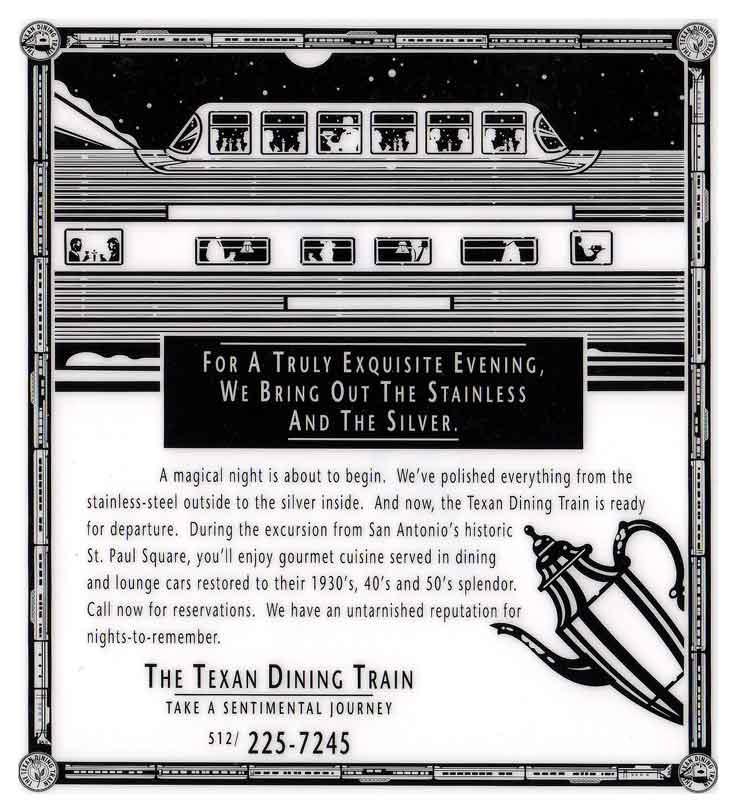 Texan Dining Train Ads