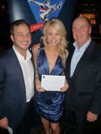 Tony Hachem, Lynn Gilmartin and Ted Whitten Jr at the EJ Whitten Charity Poker Tournament