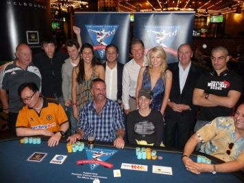 The EJ Whitten Charity Poker Tournament Final Table