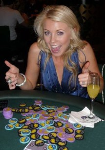 Lynn Gilmartin playing the EJ Whitten Charity Poker Tournament
