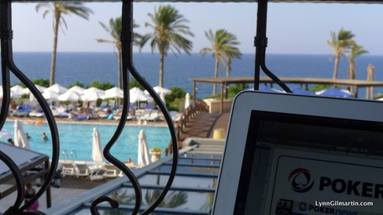 Mercure Cyprus Lobby Balcony - Not a Bad Place to Work From!