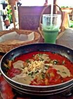 Vegan casserole with smoked eggplant, tahini and grated tofu @ Bio-Natural