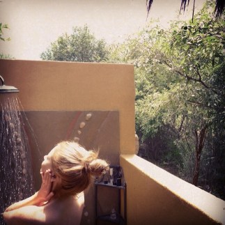 One of the best feelings in the world is showering outdoors. So freeing. Ivory Tree Game Lodge in Pilanesburg, South Africa.