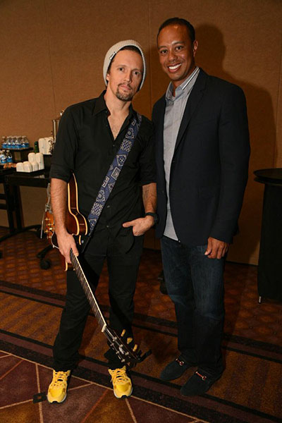 Jason Mraz and Tiger Woods