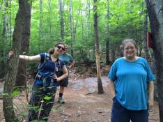 Janice, Evelyn and Judy along Shannon Brook
