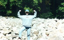 Me on the River of Rocks (I still have that sweatshirt, from my SIL)