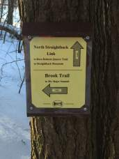 The trail is very well signed, thanks to the Belknap Range Trail Tenders (BRATTS).