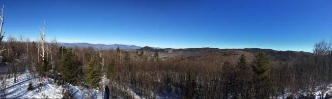 Panorama from the summit of Mt. Roberts, looking toward Mt. Washington.