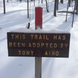 Took the red trail down. This sign was near the end where it meets back up with the blue trail.