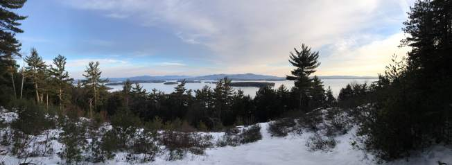 Winter panorama from The Glade.