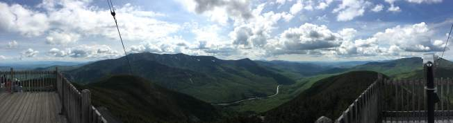 Panorama looking east from Cannon Mountain observation tower.
