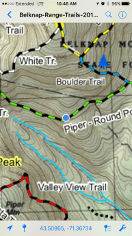 Here is where the reroute meets up with the existing trail.